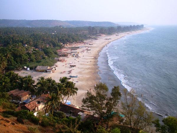 Вид на пляж Арамбола, Гоа / Фото из Индии