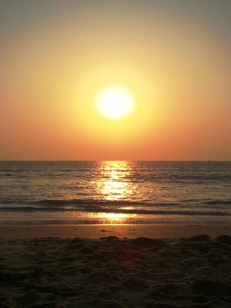 Закат на пляже Мандрем, Гоа / Фото из Индии