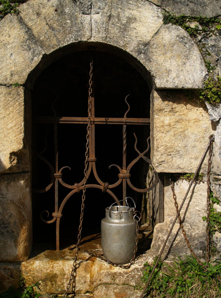 Неиссякаемый высокогорный источник в Анакопийской крепости / Фото из Абхазии