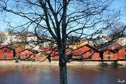 Старинные музейные амбары / Финляндия