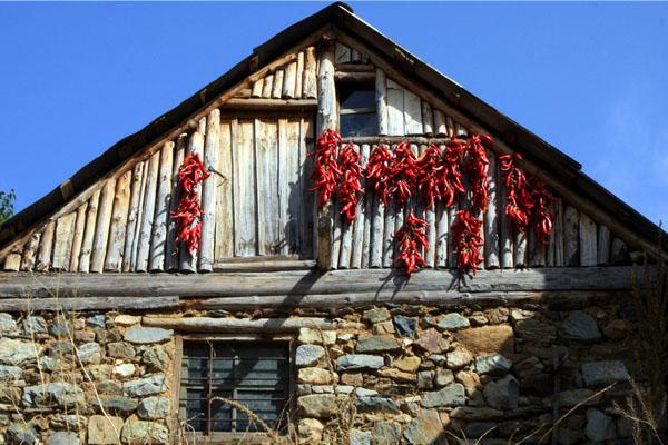 Традиционные каменные дома в Маловиште, Македония / Фото из Македонии