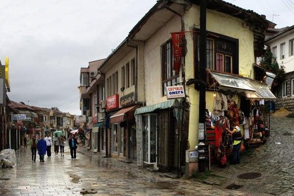 Одна из улиц в Старом городе, Охрид / Фото из Македонии