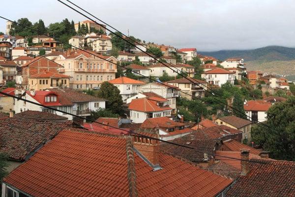 Вид на Старый город Охрида / Фото из Македонии