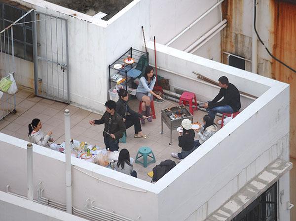 Воскресный пикник на крыше, Гонконг / Фото из Гонконга