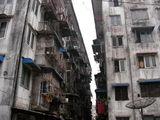 Жуткого вида многоэтажные дома / Мьянма