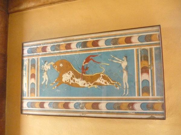Фреска в Кносском дворце / Фото из Греции