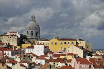 Вид на город / Португалия