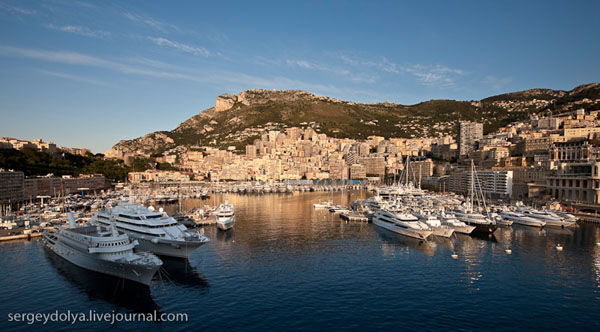 Крошечное и роскошное государство Монако / Фото из Монако