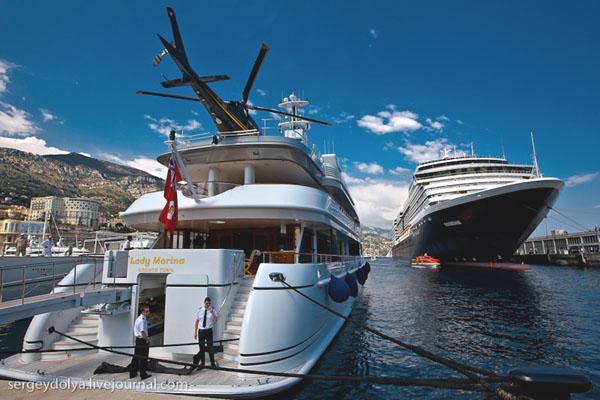 Одна из роскошных яхт в Монако / Фото из Монако
