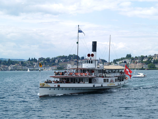Пароход Uri в Люцерне / Фото из Швейцарии