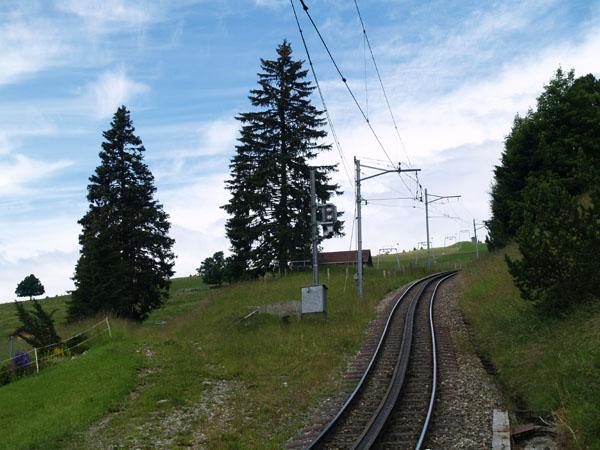 Зубчатая дорога на вершину горы Риги / Фото из Швейцарии