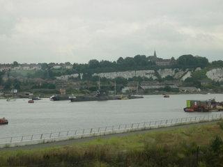 Советская подводная лодка на реке Медуэй / Великобритания