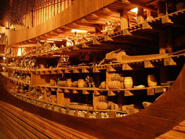 Так корабль Vasa выглядел изнутри / Фото из Швеции