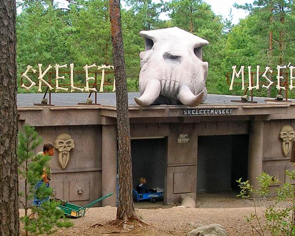 "Музей скелетов - ""на любителя"", парк Kolmården / Фото из Швеции"
