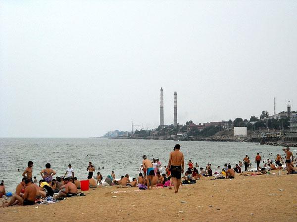 Городской общественный пляж, Махачкала / Фото из России