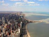 Вид на озеро Мичиган и Золотой Берег / США