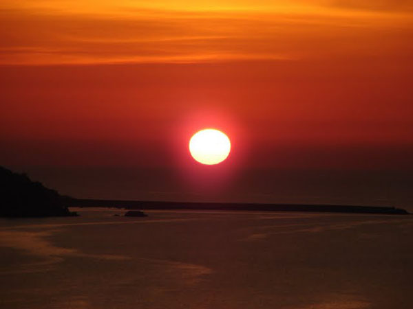 Закат над Тирренским морем, Сант-Амброджио / Фото из Италии