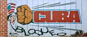 Плакат, осуждающий США / Куба