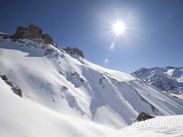 Заснеженные вершины гор в Аргентине / Фото из Аргентины