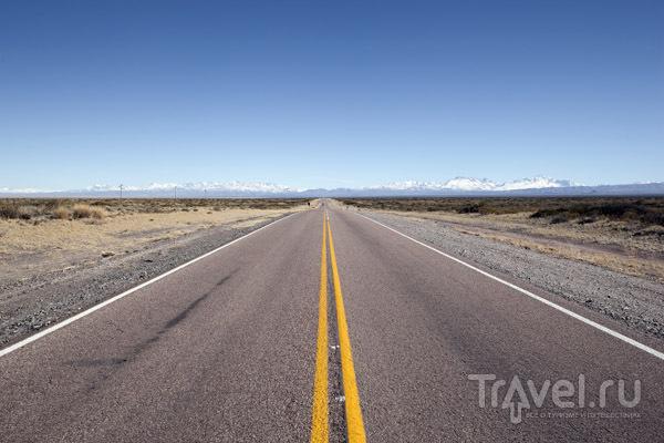 Дорога из Сан-Рафаэля к горнолыжному курорту Лас-Леньяс / Фото из Аргентины