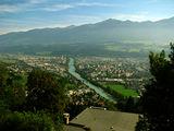 Вид на город с фуникулера / Австрия