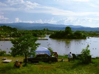 На берегу озера / Украина