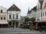 Уголок главной площади в Жилине / Словакия