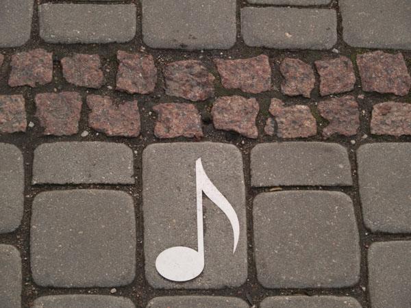 Нотка - символ Лиепаи, музыкальной столицы Латвии / Фото из Латвии