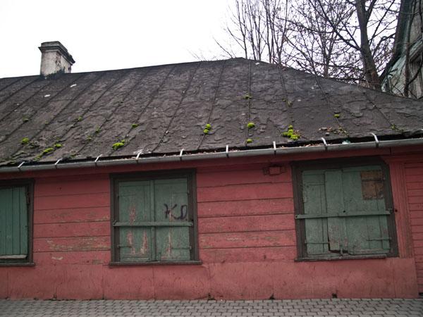 Заколоченный дом на Peldu iela, Лиепая / Фото из Латвии