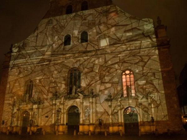 Церковь Святого Петра - участница светового фестиваля в Риге / Фото из Латвии