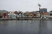 Домики в гавани Ставангера / Норвегия