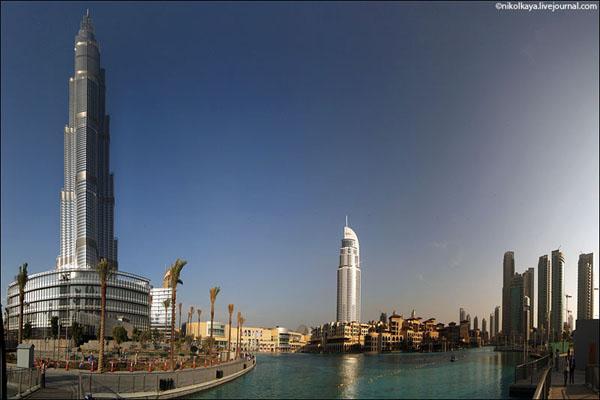 Панорамный вид на Бурдж-Халифа и окрестности, Дубай / Фото из Бахрейна