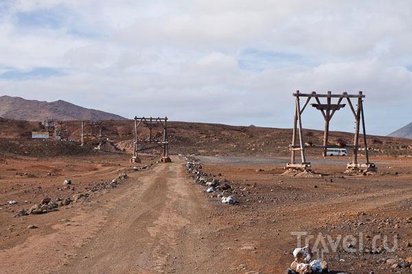 Промышленная канатка на острове Сал в Кабо-Верде / Фото из Кабо-Верде