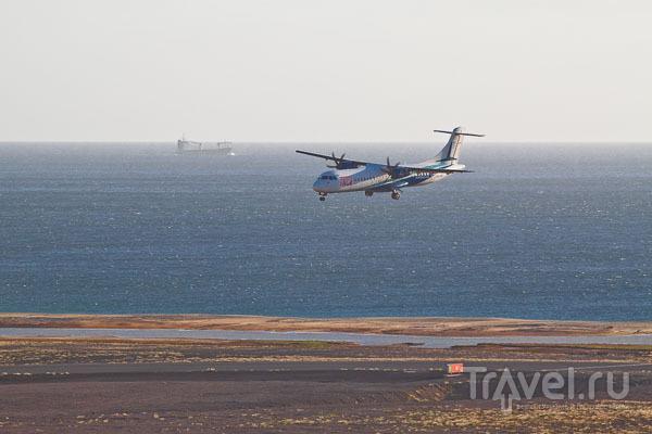 Перед посадкой в аэропорт São Pedro на острове Сан-Висенте, Кабо-Верде / Фото из Кабо-Верде