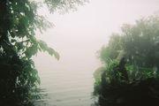 Озеро в кратере потухшего вулкана Серро-Чато / Коста-Рика