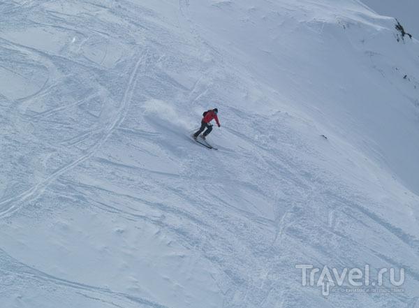 Лыжник в зоне фрирайда / Фото из Франции