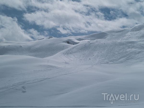 """""""Зеленая"""" трасса в Ski Tranquille, Тинь / Фото из Франции"""