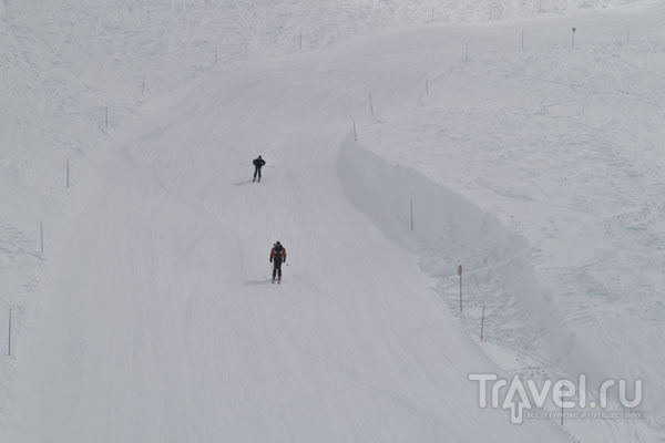 "Разгон по ""зеленой"" трасс в Ski Tranquille, Тинь / Фото из Франции"