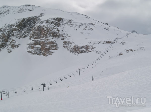 Зона Ski Tranquille расстилается до горизонта / Фото из Франции