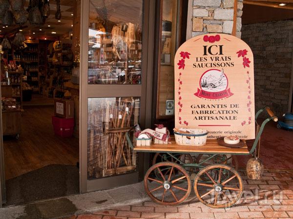 Магазин с традиционными савойскими продуктами, Тинь / Фото из Франции