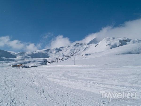 Идеальное снежное покрытие на трассах Лез-Арка / Фото из Франции