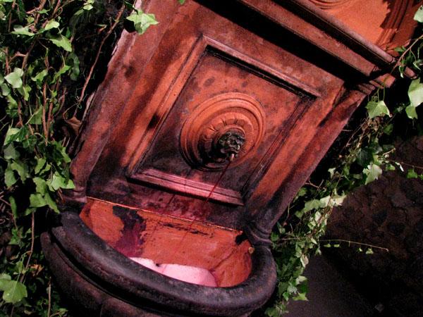 Фонтанчик с вином в подземельях Буды / Фото из Венгрии