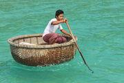 Плетеная лодка / Камбоджа