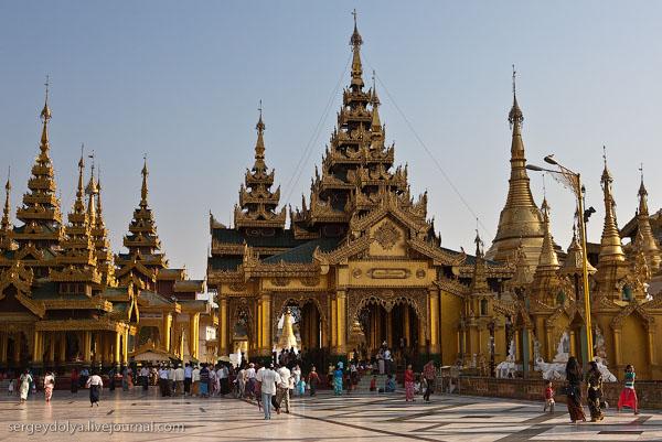 Храмы Шведагона, Янгон / Фото из Мьянмы