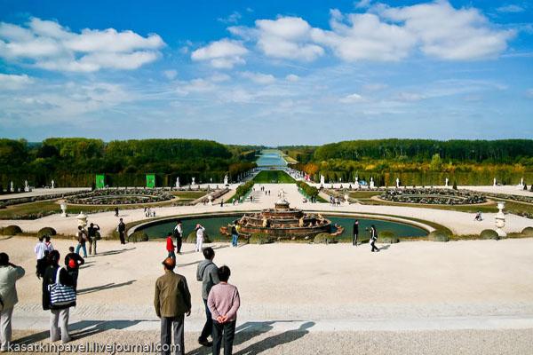 Вид на Большой канал в парке Версальского дворца / Фото из Франции