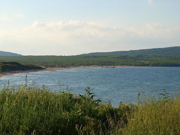 Вид на пляж в северной части курорта Приморско / Фото из Болгарии