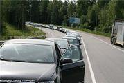 Очередь перед границей / Финляндия
