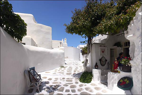 Кикладские домики в Хоре - столице острова Миконос / Фото из Греции