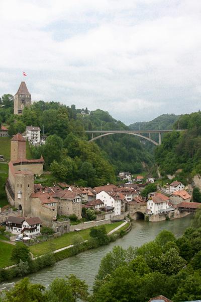 Подвесной мост Gotteron / Фото из Швейцарии