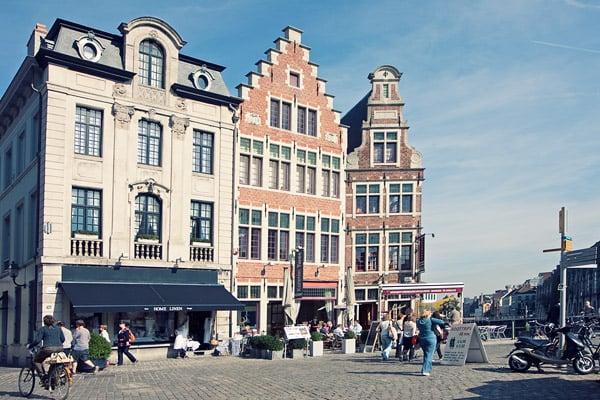 Площадь в Генте / Фото из Бельгии